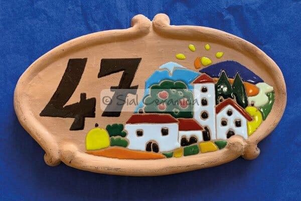 numero civico personalizzato ceramica - Sial Ceramica