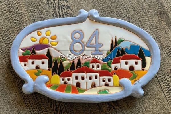 numero civico per esterno - Sial Ceramica